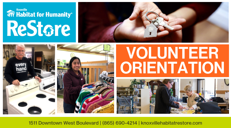 ReStore Volunteer Orientation Banner