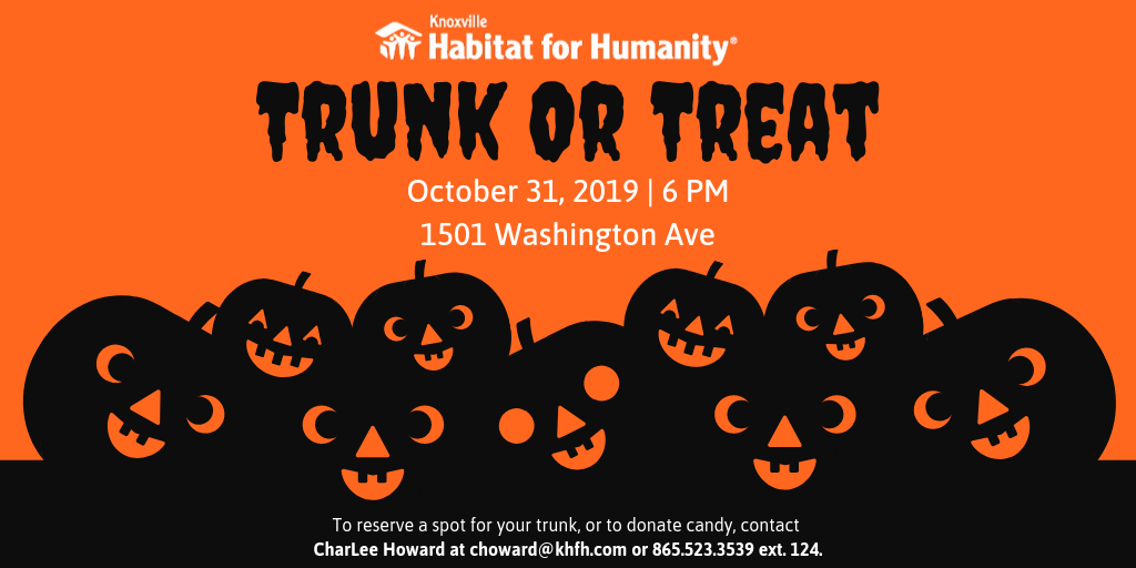 Graphic for Knoxville Habitat for Humanity's annual Trunk Or Treat Event